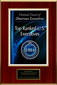 National Council of American Executives - Click 'Display Images' to View              Howard Oven of H.O. Electric has been recognized as a Top Ranked U.S. Executive. Millions of executives provide information online about their careers each year. The National Council of American Executives in partnership with The American Registry, has analyzed thousands of entries to identify those within a certain area and location who are rated the highest. Of the millions of active executives, Howard Oven of H.O. Electric is among the top 1% who have received this honor. The National Council of American Executives has commended Howard Oven of H.O. Electric for this achievement. In an effort to aid its customers and clients in their search for top-quality service, we've set you apart from your competition by adding you to The Registry™.  Again, congratulations on this distinctive achievement!             Sincerely, Sincerely, Benjamin Morrison President, Consumer Research